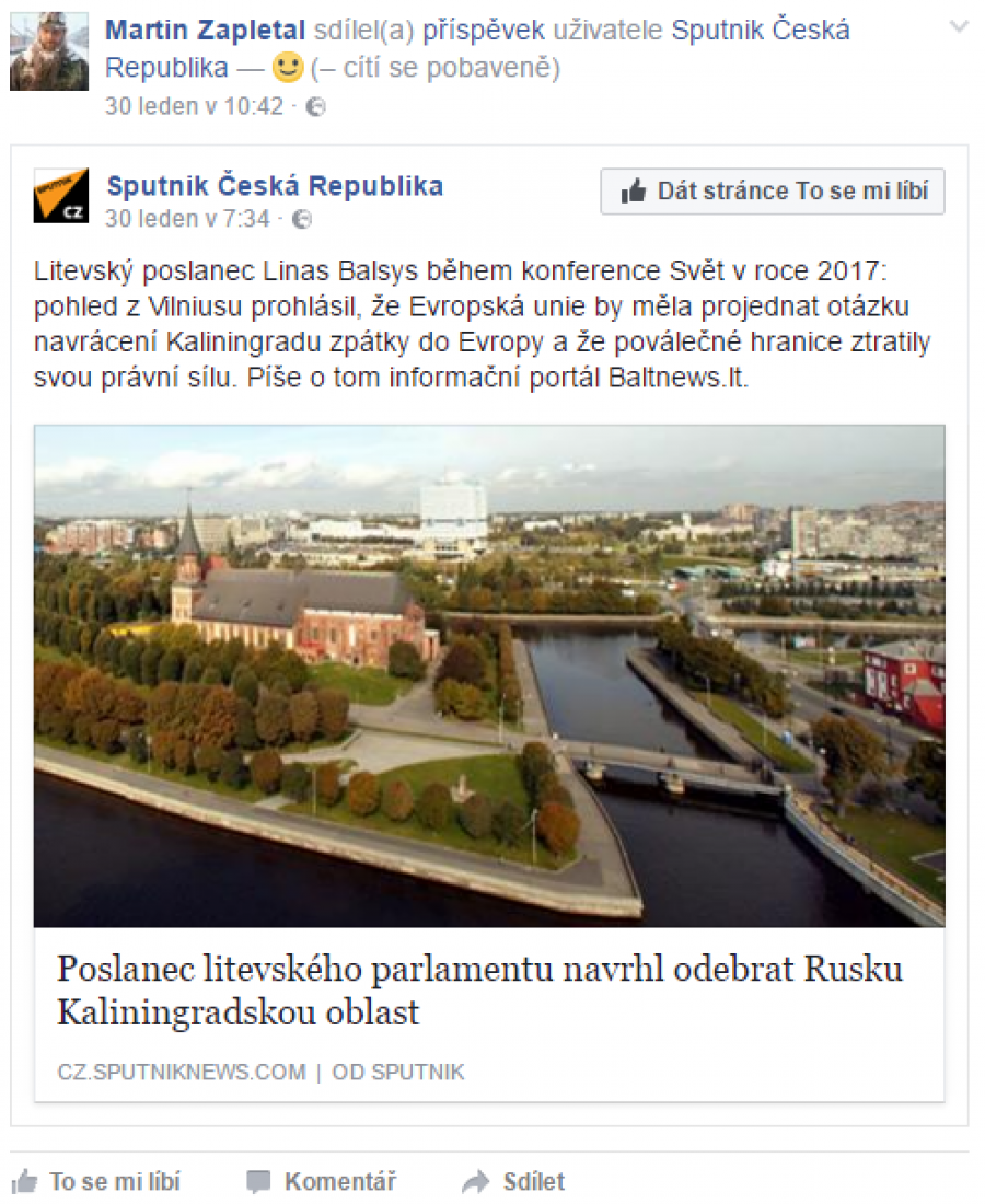Zapletal a Sputnik
