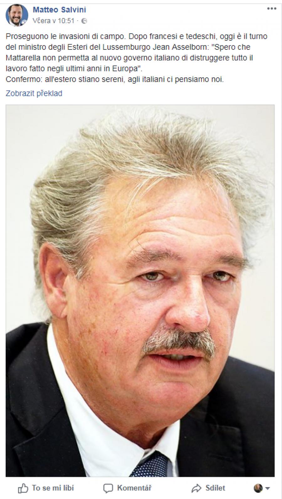 Po Francouzích a Němcích je dnes turnus lucemburského ministra zahraničí, Jean Asselborn.