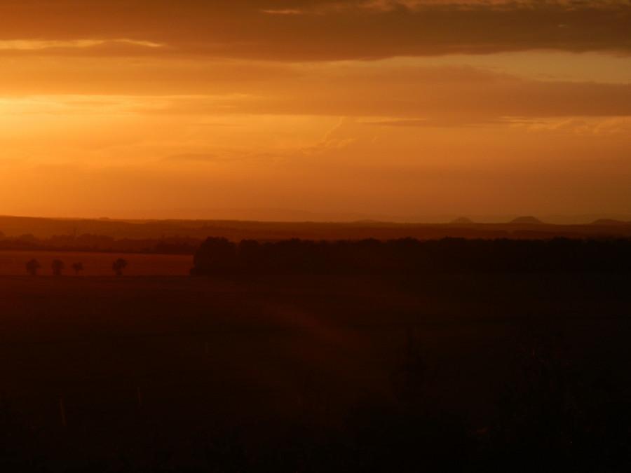 zasněný večerní výhled z Haldy Ronna