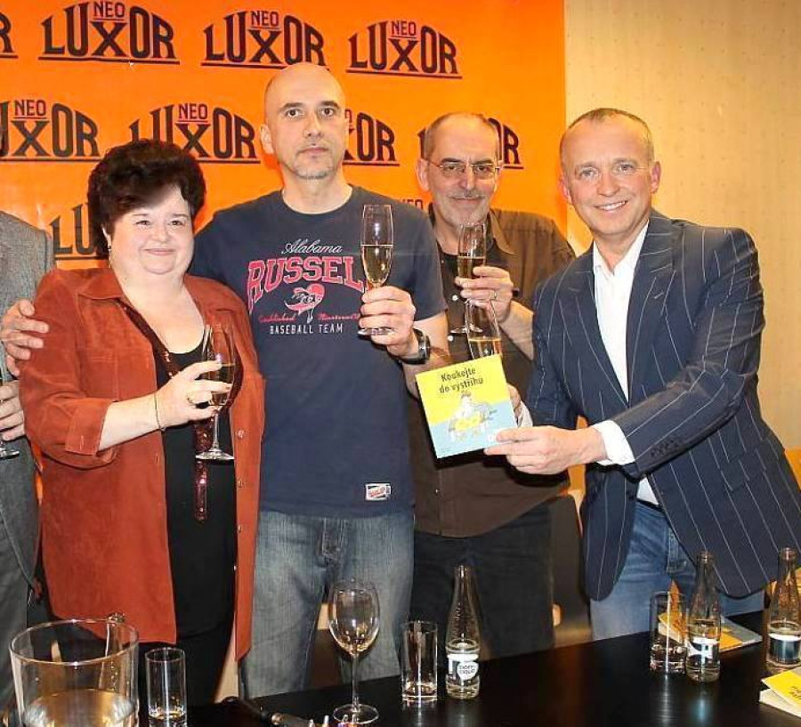 vedle mě: Boris Pralovszký, Ivo Šmoldas a Karel Voříšek