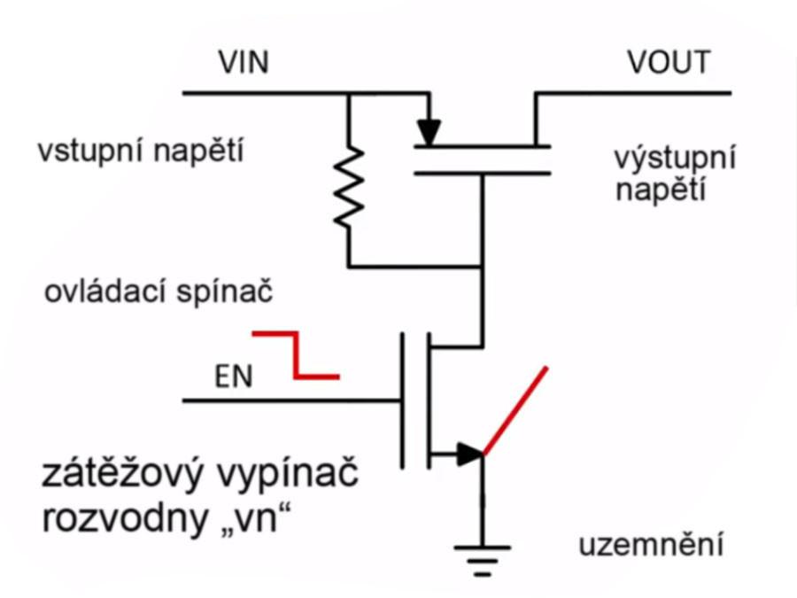 zátěžový vypínač - základní schéma