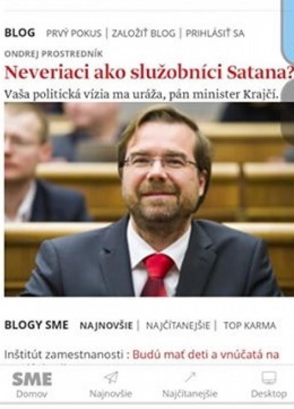Titulka denníka SME