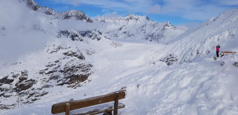Největší ledovec v Alpách Aletsch