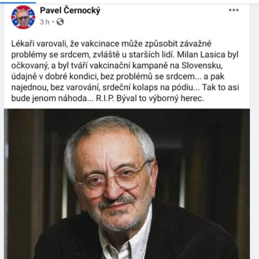Tweet Pavla Černockého