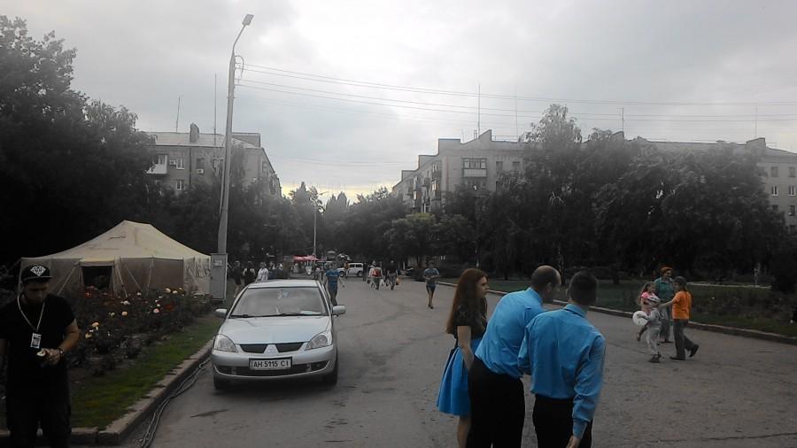 Pohled do ulice ve