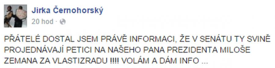 FB příspěvek Černohorský