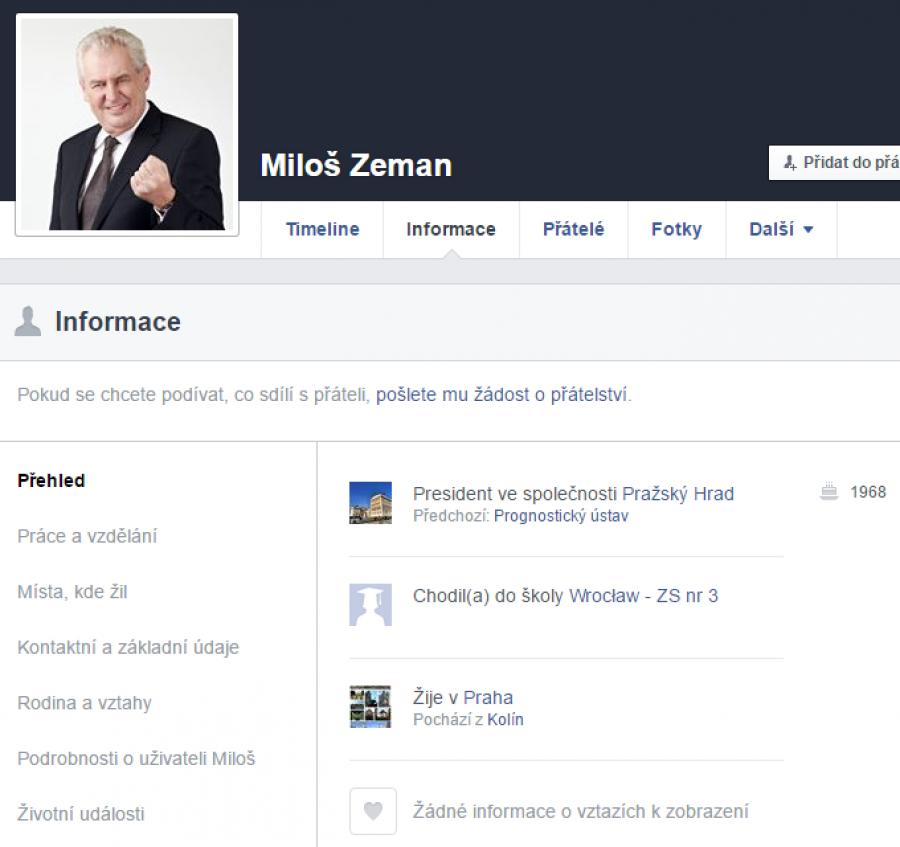Info profilu