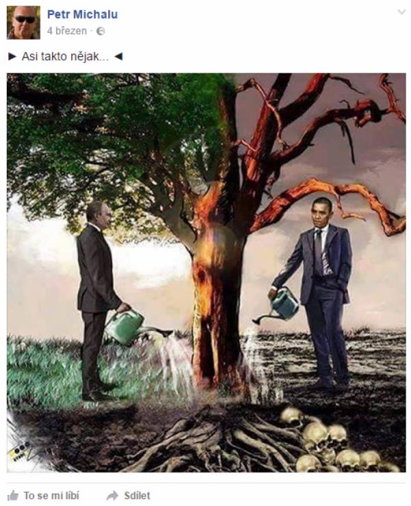 Zalévání stromu