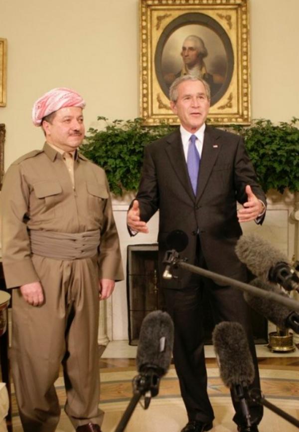 Mesud Barzani s G.Bush em
