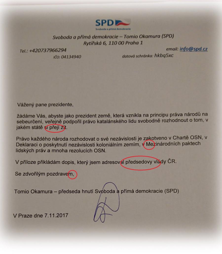Dopis panu prezidentovi