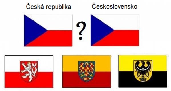 Zemské vlajky: Česko, Morava, Slezsko
