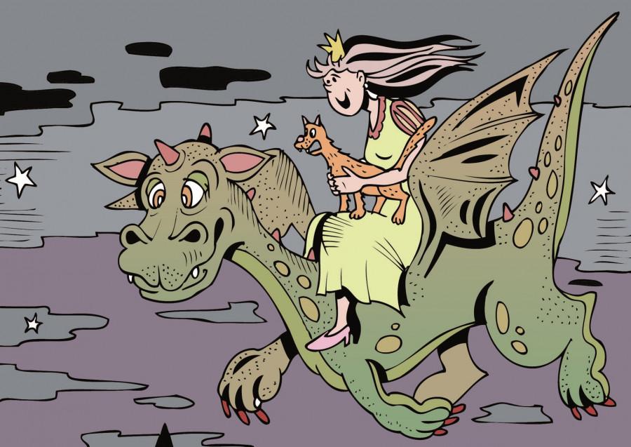 Ilustrace ke knize: Rytíři Slavelónu - Dračí princ