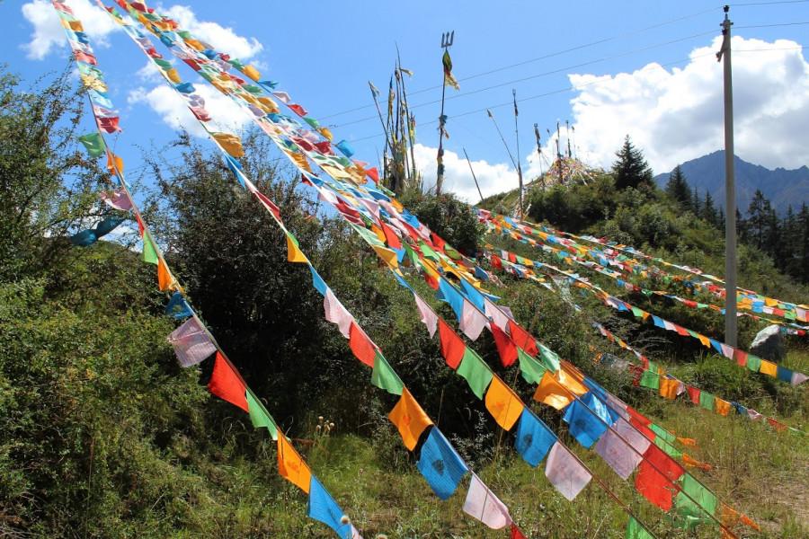 Tibetské modlitební vlaječky