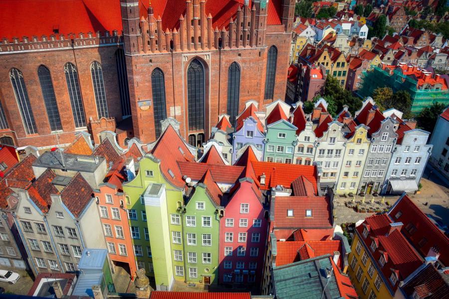 Gdańsk shůry radniční věže.