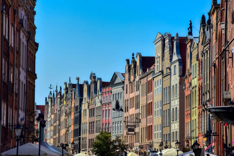 Gdańská ulice.