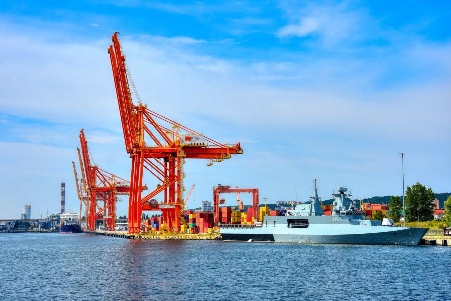 Gdyně, přístav.