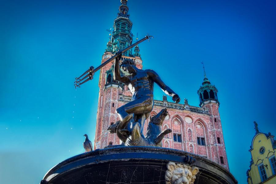 Neptun s radnicí, Gdańsk.