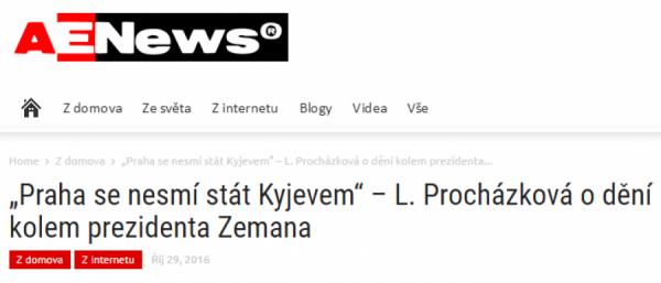 Praha se nesmí stát Kyjevem