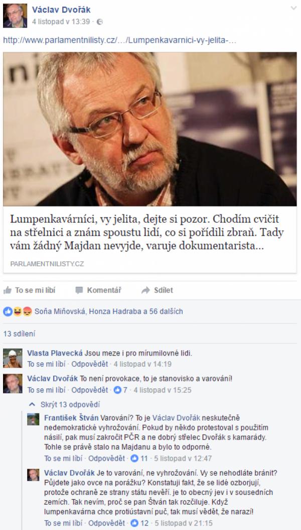 Václav Dvořák na FB