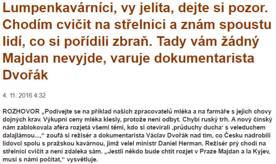 Václav Dvořák pro PL