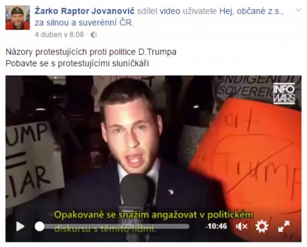 Demonstrace proti Trumpovi