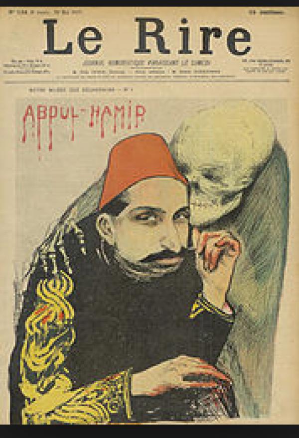 Krvavý Sultán Abdul Hamit ve francouzském tisku