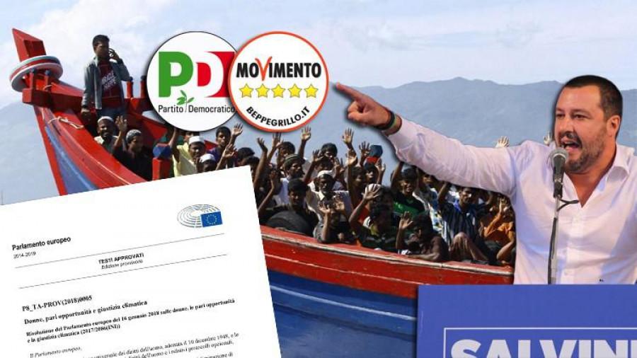 Člun s nelegálními migranty ... v budoucnu klimatickými  ... Matteo Salvini se proti  tomu ohrazuje