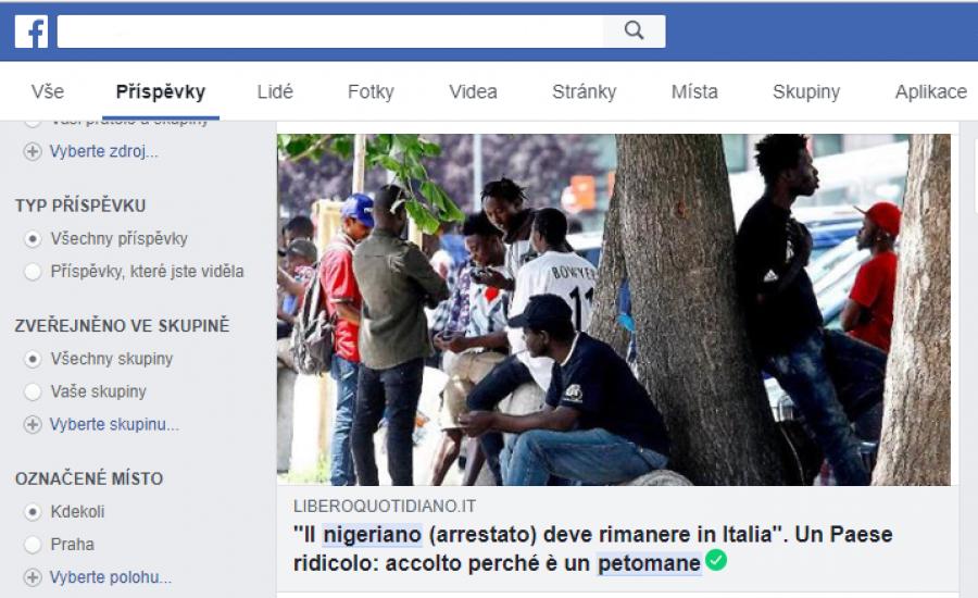 Článek z deníku Libero quotidiano o tom že i střevní nadýmání a plynatost mohlo být důvodem k udělení humanitárního povolení k pobytu