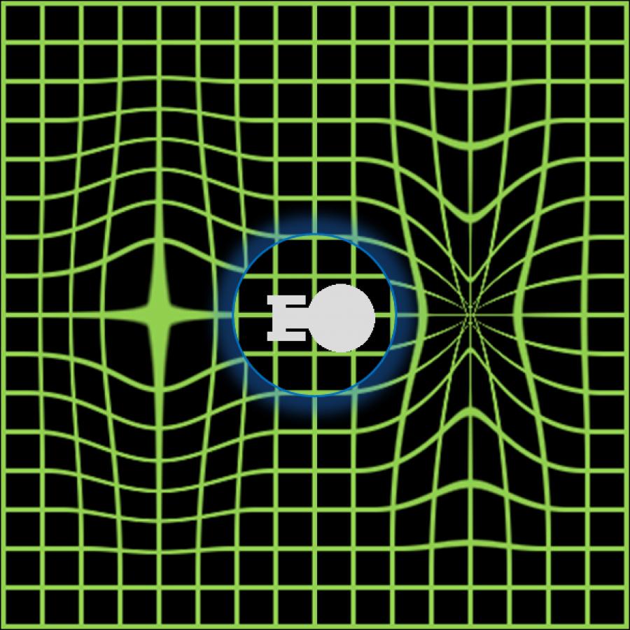 Warpový pohon. Před lodí se prostor stlačí, za ní roztáhne. Jde v podstatě o gravitační vlnu, která nemůže překonat rychlost světla.