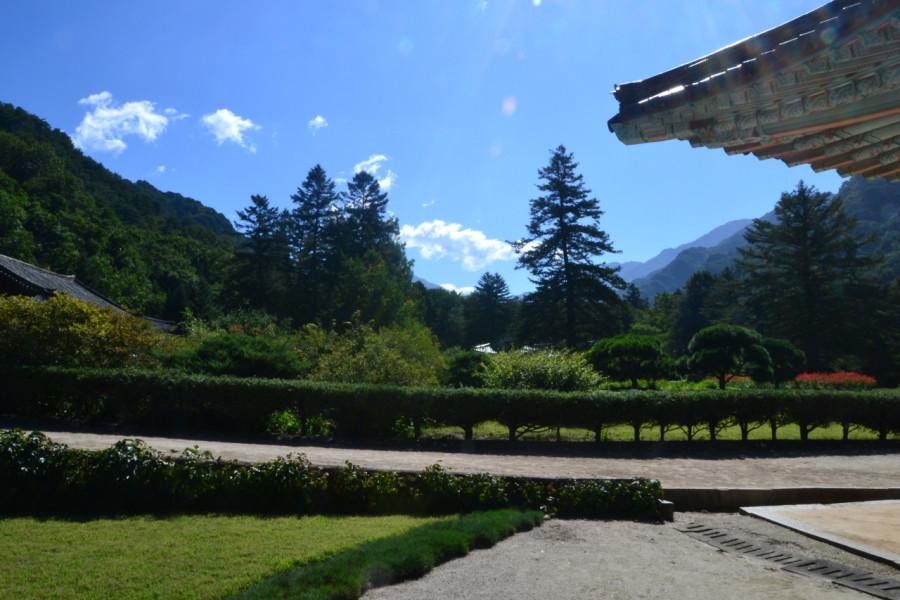 Hory Mjohangsan z budhistického chrámu Pohjon