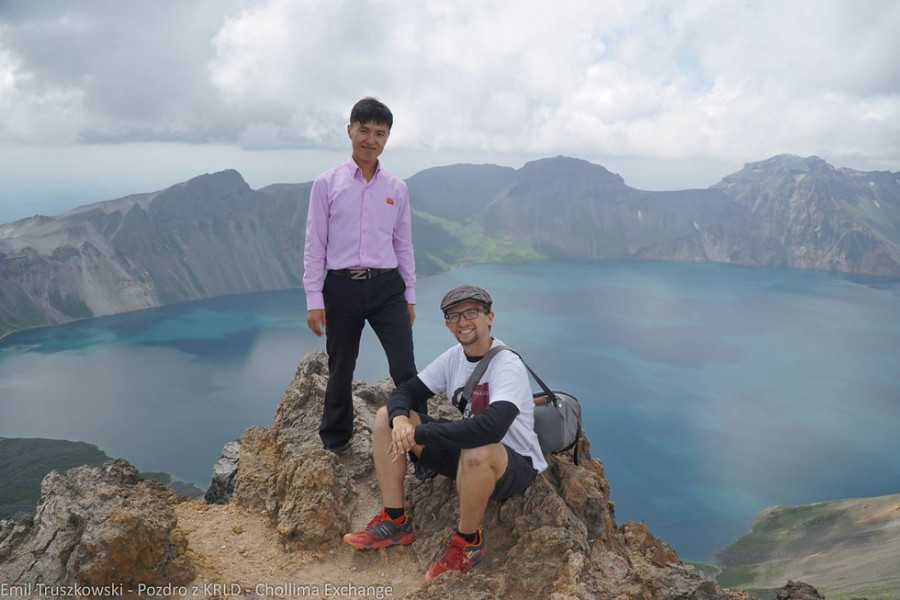 Na vrcholu Pektusanu (se svolením autora)