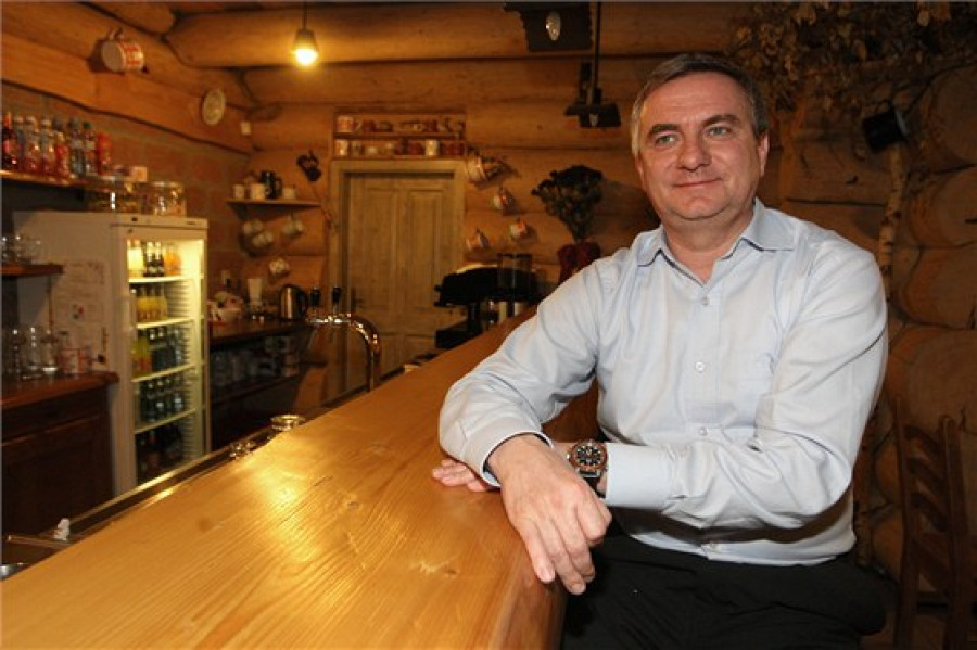 Vratislav Mynář ve své restauraci