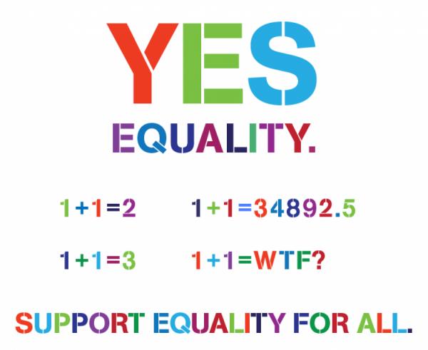 Kampaň za rovnost zdůrazňovala, že každý má právo na svou pravdu.