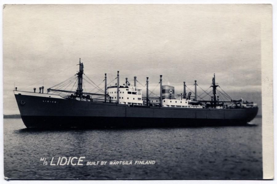 Loď Lidice byla v provozu od 14. listopadu 1954 do 29. listopadu 1966, tedy celých dvanáct let. Tehdy se jednalo o moderní plavidlo: loď měla například instalován i 30 tunový jeřáb a námořníkům byla k dispozici například sauna