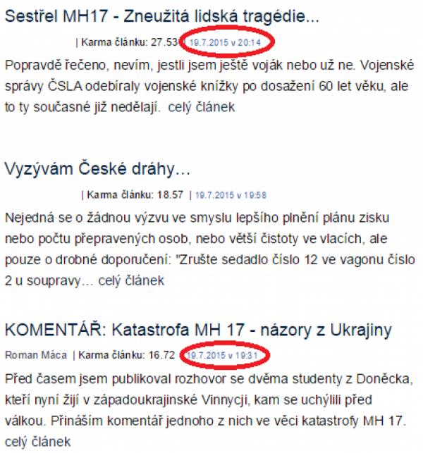 Ukázka z titulky blog.idnes.cz