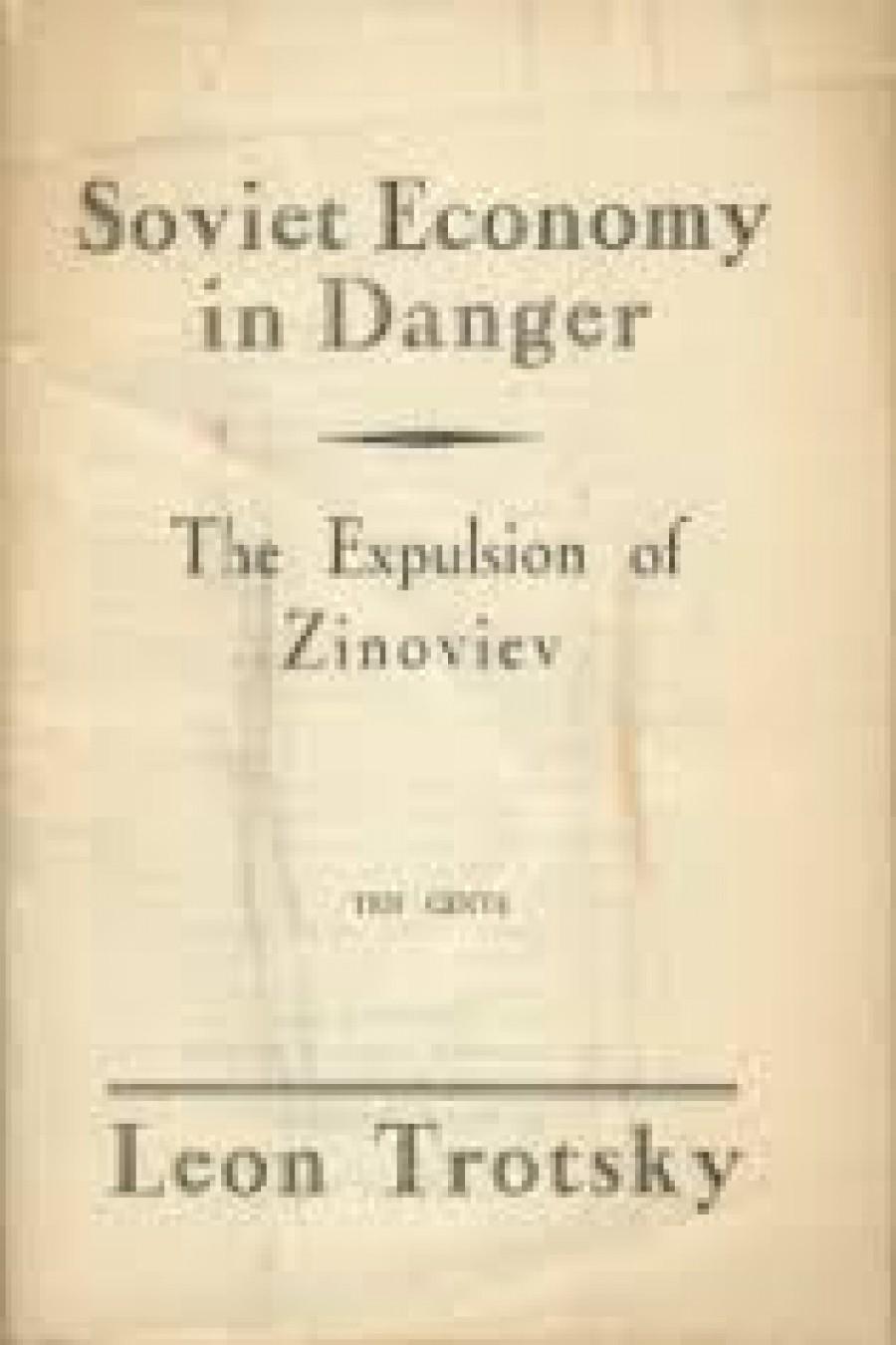 Trockého kniha Sovětská ekonomika v nebezpečí