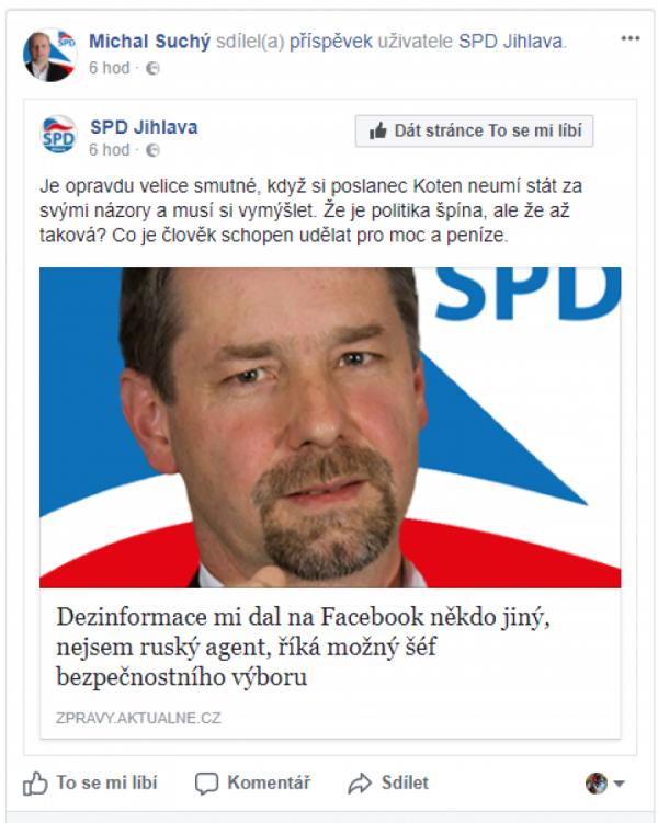 SPD Jihlava a Michal Suchý