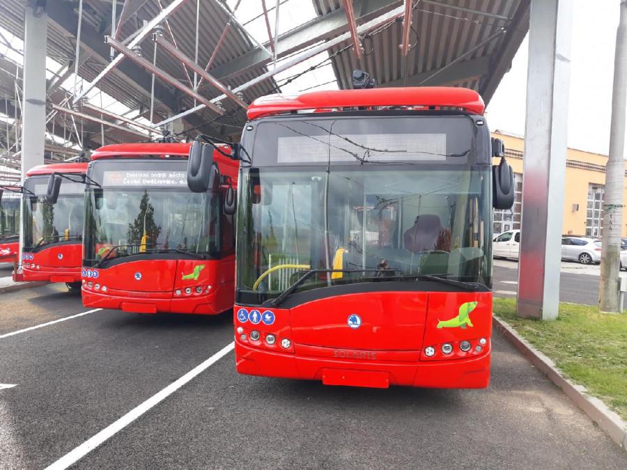 Elektrobusy v Českých Budějovicích - ilustrační foto