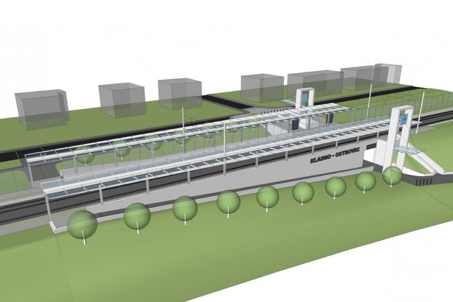 nový návrh nádraží podle projektu modernizované železnice