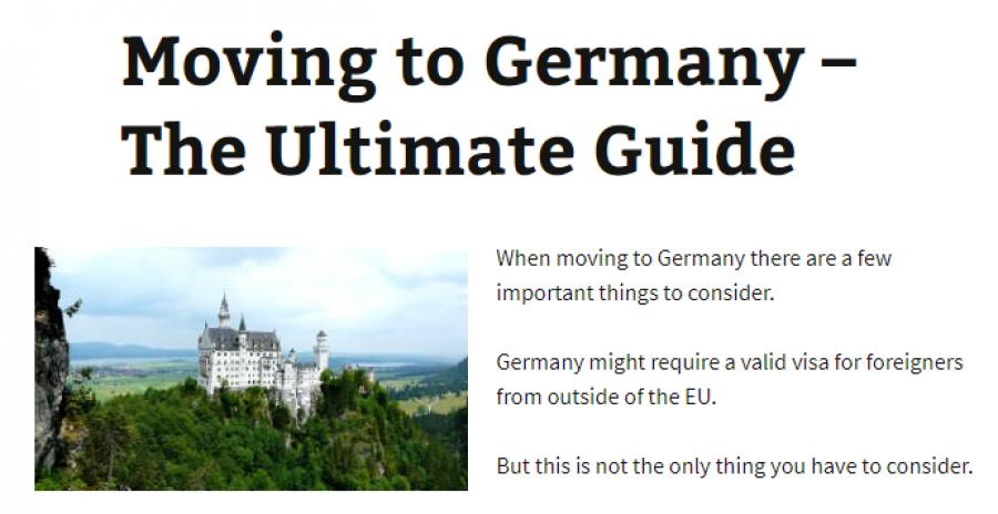 Pokud někdo ze zemí mimo EU chce žít v Německu, může už teď požádat o vízum a dostat se do země zcela legálně. Weby jako