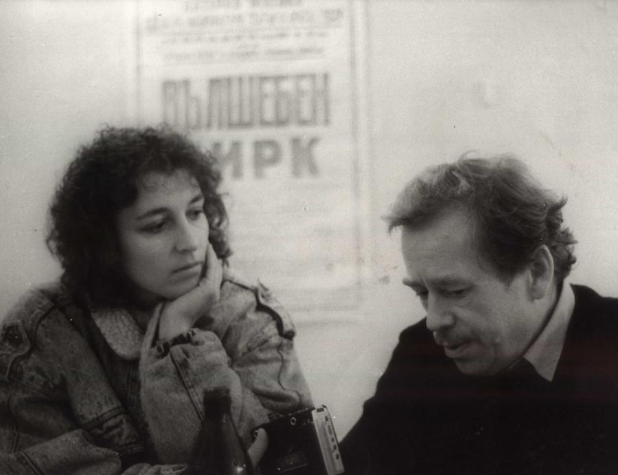 S Václavem Havlem v Laterně Magice
