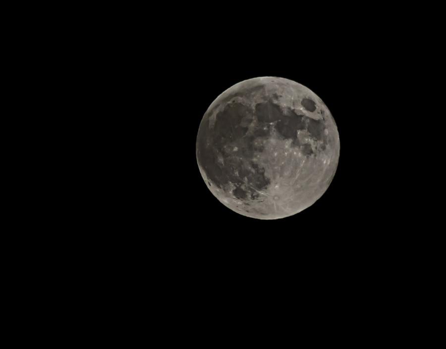 Úplněk, polostínové zatmění Měsíce stínem Země